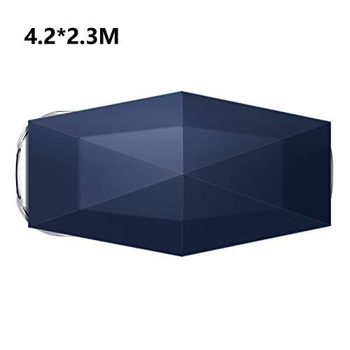 Draagbare daktent Semi-Automatische Handleiding Opgevouwen Auto Paraplu Auto Bescherming Auto Tent Zonneschaduw, Verplaatsbare Carport Canopy voor Outdoor Camping Tent 4.2 * 2.3M