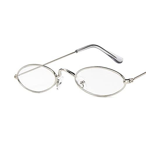 ShSnnwrl Único Gafas de Sol Sunglasses Gafas De Sol Ovaladas De Montura Pequeña para Mujer, Diseñador De Marca, Lente Oceánica, G