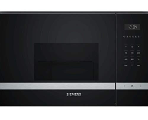 Siemens–Microondas be525lms0acabado cristal negro con acero inoxidable