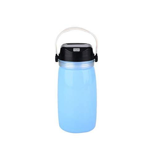 Botella Agua Niños Solar Resplandor Cargada Gel De SíLice Plastico Plegable Cantimploras...