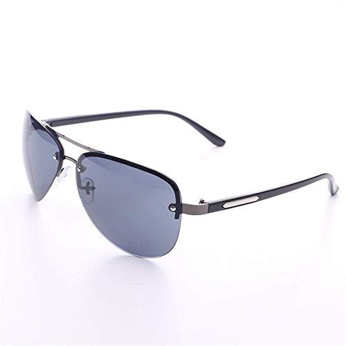 XUSHEN-HU Gafas de ciclismo para hombre y mujer Ciclismo Pesca Gafas de sol de metal Gafas de pesca para deportes al aire libre Gafas de sol (color: negro, tamaño: tamaño libre) Gafas de sol