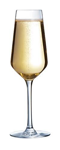 Arcoroc N5082 pack de 6 Flûtes à champagne Vina Juliette, 23 cl, verre ultra transparent