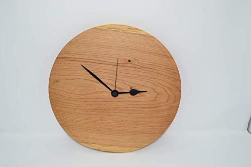 Holz Wanduhr Holz Uhr 31 cm Eiche Uhr Junghans Uhrwerk Holzdekoration Holzdeko Geschenk Geschenkidee Unikat handmade Made in Austria