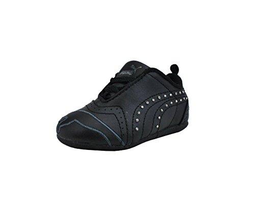 PUMA Shoes Sela Diamond Rhinestone Infant Toddler Black Sneakers (3 M US Infant)