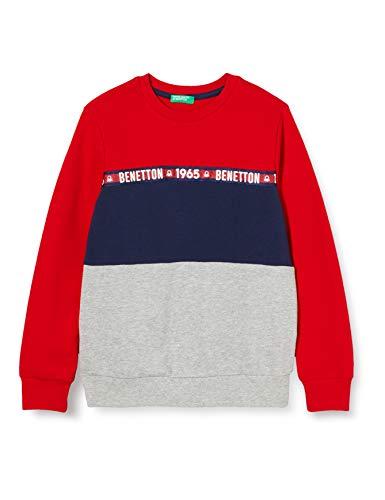 United Colors of Benetton (Z6ERJ Maglia G/C M/L Sudadera con Capucha, Red 015, Niños