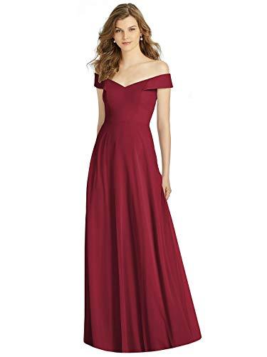 LA ORCHID Laorchid Damen cocktailkleid elegant lang Abendkleid v Ausschnitt Kleid ärmellos ballkleid Vintage Sommerkleid Sexy Partykleid schulterfrei Dunkel Rot XL