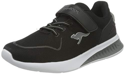 KangaROOS Unisex KL-Bare EV Sneaker, Jet Black/Steel Grey 5003, 37 EU