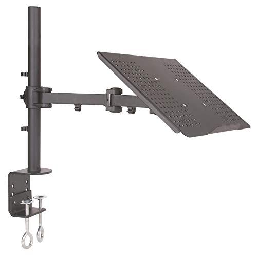 DRALL INSTRUMENTS Tischhalterung Halterung für Laptop Notebook Netbook Tablet PC\'s Tisch Halterung Ständer in 3 Farben Modell: LT10VA, Farbe:Schwarz