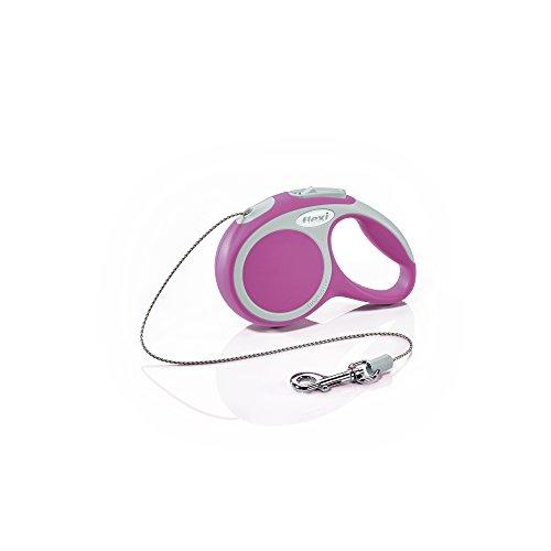 flexi Roll-Leine Vario XS Seil 3 m pink für Hunde, Katzen und Kleintiere bis max. 8 kg
