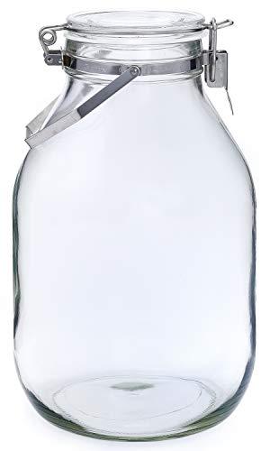 セラーメイト 取手付 密封瓶 保存容器 梅酒 びん 果実酒 づくり 4L ガラス 日本製 220339