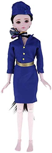 LAIXIN 1/3 Scale 23 Joints Customized Doll - Flight Attendant in Full Outfits- for Kids Girls