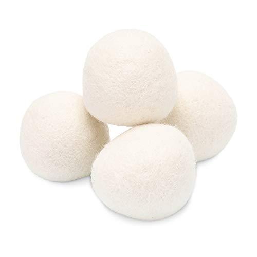 Io Nova ® Trocknerbälle aus Schafwolle - Trocknerkugeln für sanfte und leise Trocknung | 4er Set