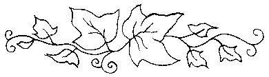 Art Stamps Stempel Efeu Bordüre
