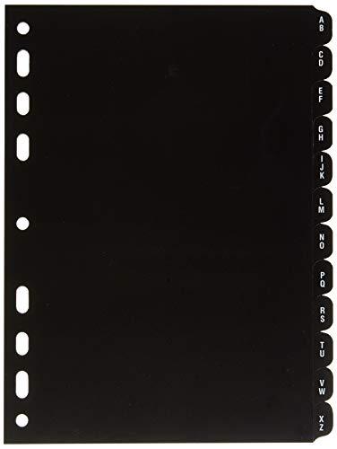 rido/idé 7065802 Kalender-Register (aus Hartfolie, für A 5 Ringbuch/Timer/Timing 1, 6-teilig) schwarz