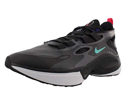 Nike Signal D/Ms/X, Running Shoe Mens, Negro/Negro Apagado/Violeta Enérgico/Gris Oscuro, 43 EU