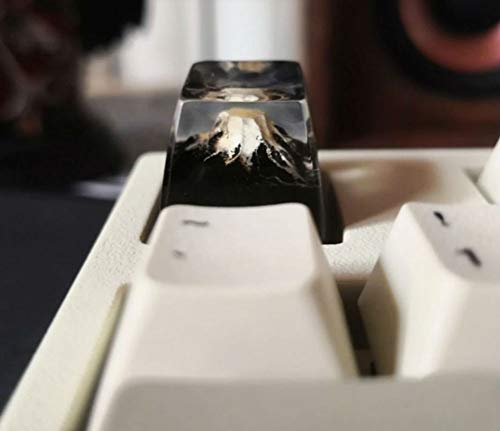 Mugen Custom Mount Fuji Nature Resin Keycaps for Cherry MX Switches - Fits Most Mechanical Gaming Keyboards - with Keycap Puller