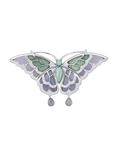 KLiNGEL Schmetterling-Brosche in Silber 925 Grün