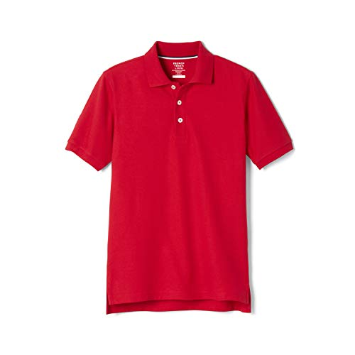 French Toast Little Boys' Short Sleeve Pique Polo, Red, 4T