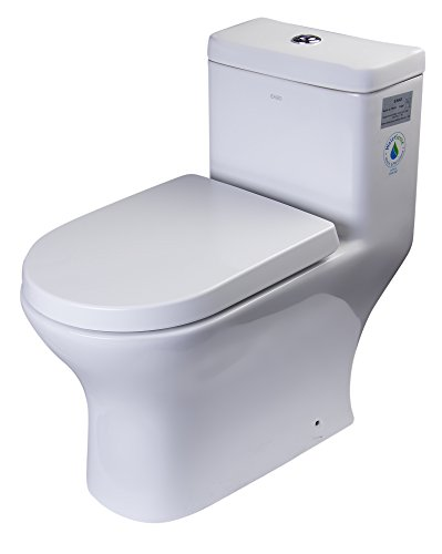 EAGO TB353 Dual Flush Eco-Friendly Ceramic Toilet, 1-Piece