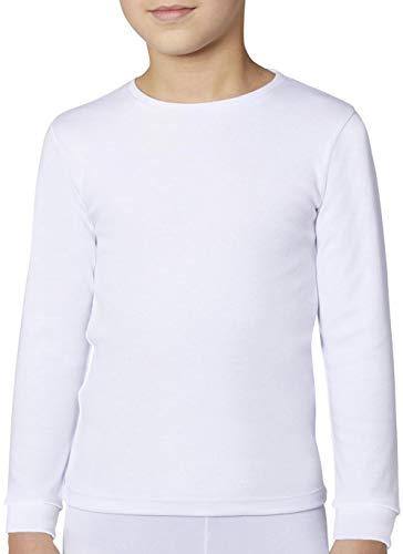 Ysabel Mora Jungen Kinder Unterhemd Langarm/Kurzarm weiß Geschenkverpackung (152 Langarm)