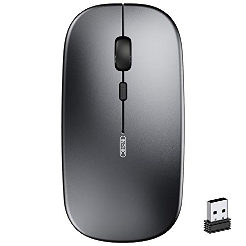 Wireless Mouse, inphic Slim Silent Click Rechargable 2.4G Cordless Mouse...