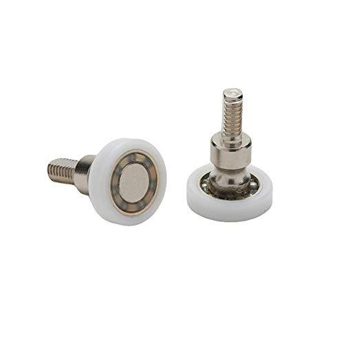 Rodamientos para mampara de ducha con bola de repuesto de acero para puertas correderas, kit de 2 unidades EC-3301