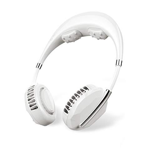 Akin Ventilador portátil USB recargable para colgar el cuello con aromaterapia manos libres collar personal ventilador con ajuste 3 velocidades 2000 mAh sin aspas para viajes deportes oficina