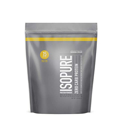 Isopure Zero Carb, Keto Friendly Protein Powder, 100% Whey Protein Isolate, Flavor: Banana Cream, 1 Pound (Packaging May Vary)