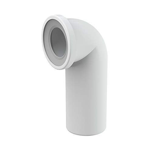 WC-Anschluß Bogen 90 Grad Abfluß weiß weiss WC-Abfluß Abflussrohr WC Verbindung für Toilette