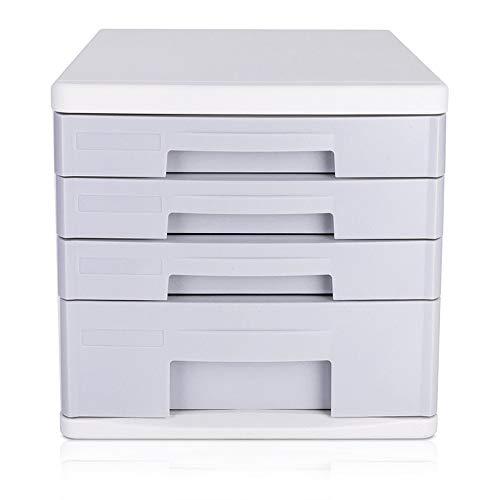 JenLn Office-bestanden Pedestal duurzaam desktop File Cabinet 4 lagen desktop kantoor opslagkast office podestbestanden