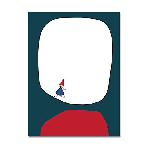 WOMGD Abstracte grappige affiches en printen, minimalistisch schilderij op canvas, voor slaapkamer-keuken print 30x40cm
