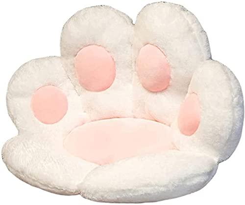 Cat Claw Seat Cushion, Cat Paw Shape Stoel Seat Pad, Luie Sofa Bureaustoel Kussen, Warme Huidvriendelijke Vloermat Voor Thuiskantoor,White