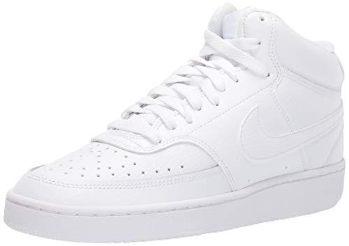 Nike Court Vision Mid, Zapatillas Mujer, White, 36 EU
