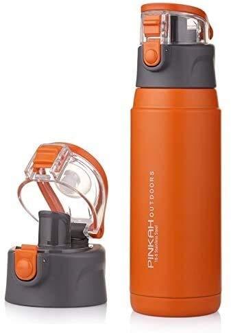 wangYUEQ Tapa 650ml Taza Termo de Acero Inoxidable matraces de vacío Deporte Aislamiento Botellas de Agua al Aire Libre