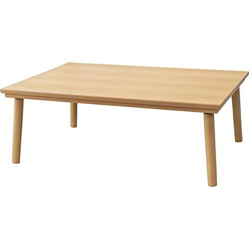 こたつテーブル 長方形 フラットヒーター こたつ台 KT303 約75×105cm ナチュラル コタツ テーブル こたつ本体 木目 シンプル #9846015 【AZM】