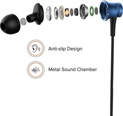 Saron Enterprises Compatible for Mi Earphone Basic with Ultra deep bass and mic (Blue)