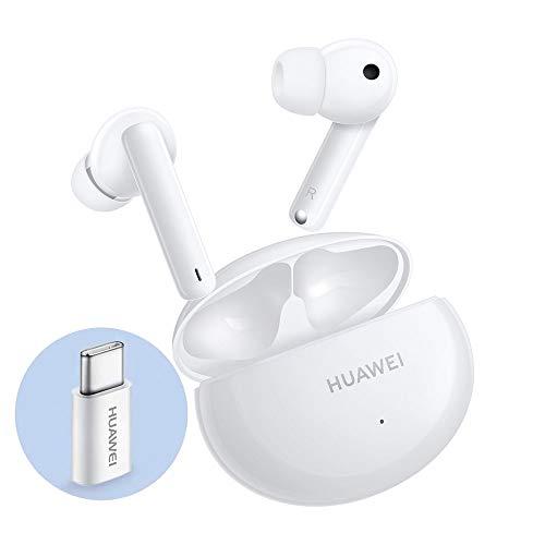 Huawei FreeBuds 4i True Wireless In Ear Auriculares con cancelación Inteligente del Ruido, con Adaptador Huawei AP52, Ceramic White