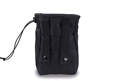CISNO Military Small Molle Belt Tactical Magazine Dump Drop Reloader Pouch Bag W/Mesh(Black)