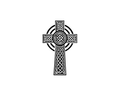 Celtic Cross Vinyl Decal Sticker (Black)