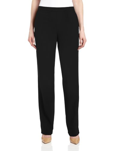 Briggs New York Women's Pull On Dress Pant Average Length & Short Length, Black, 8