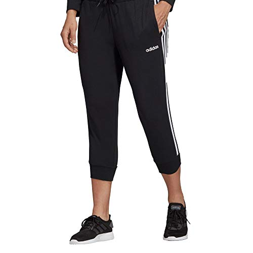 adidas Damen W E 3S 3/4PT SJ Sport Trousers, Black/White, L