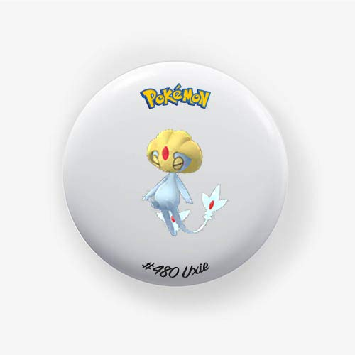 Uxie #480 : Go, Pinback Button Badge 1.50 Inch (38mm)