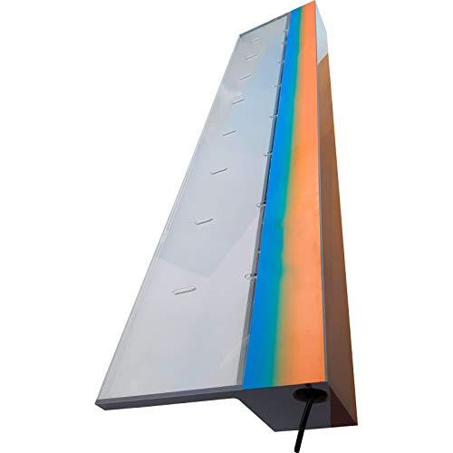 Warmpool Cascada Acrílica empotrable para Piscina SIN LED, Lamina de Agua de Varios tamaños (90 cm lengüeta 12 cm)