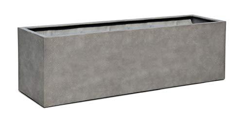 VAPLANTO® Pflanzkübel Box 60 Beton Grau Rechteckig * 60 x 20 x 20 cm * 10 Jahre Garantie