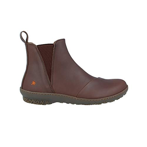 art Damen Leder Stiefelette Ankle Boot Antibes Brown Braun 1428, Groesse:40 EU
