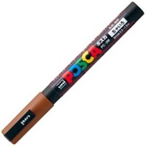 ( お徳用 200セット ) 三菱鉛筆 ポスカ/POP用マーカー 【細字/茶】 水性インク PC-3M.21