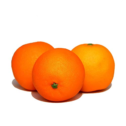 Ruichy 3 frutta decorativa artificiale (arancia) As Shown
