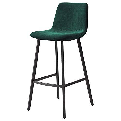 Bar stoolsQX IAIZI Hoofddecor meubel - tooghoogte barkruk - Keuken ontbijt hoge stoel - Velvet Pub zitting en zwarte metalen legger - 5 kleuren verkrijgbaar