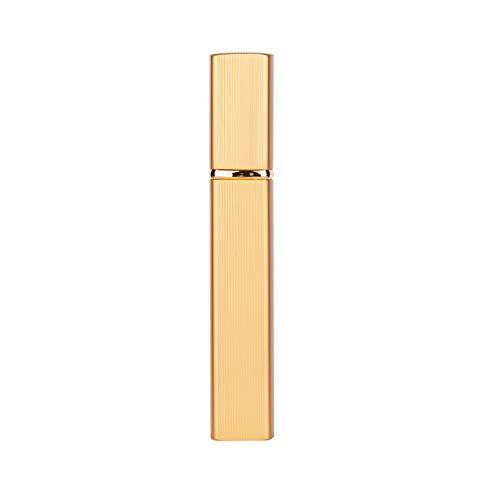 QNMLGB 1pcs 6 Bouteille Parfum récipient en Verre boîte en métal Couleur buse de pulvérisation en Aluminium Bouteille réutilisable de Verre Contenant des Produits cosmétiques de Parfum 12ml,Or,12ml