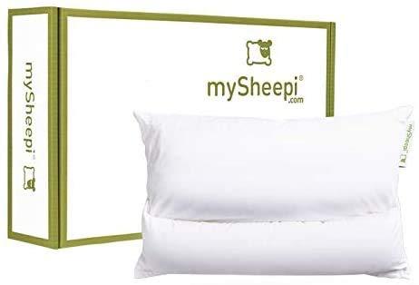 mySheepi Home 60 x 40 cm ergonomisches Kopfkissen / HWS Nackenstützkissen mit beweglicher Nackenrolle - allergikerfreundliche Medlinefüllung Super Soft